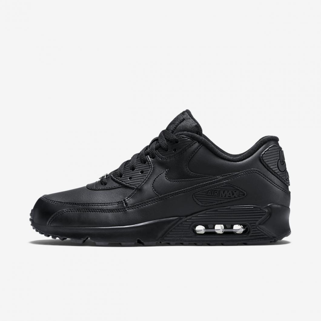Lifestyle Nike | Air Max 90 Leather Nero/Nero Uomo ⋆ Arci Scuotivento